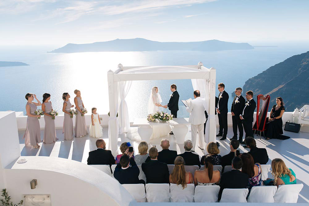 dana villas wedding venue santorini wedding venues locations