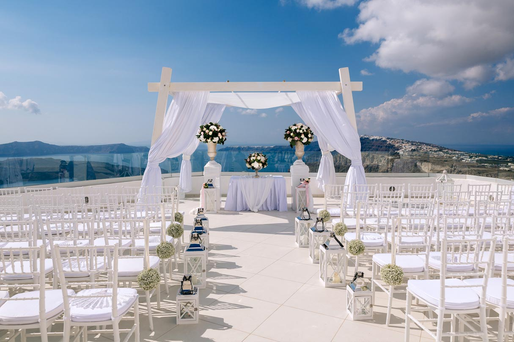 Santo Winery Wedding Ceremony In Pyrgos
