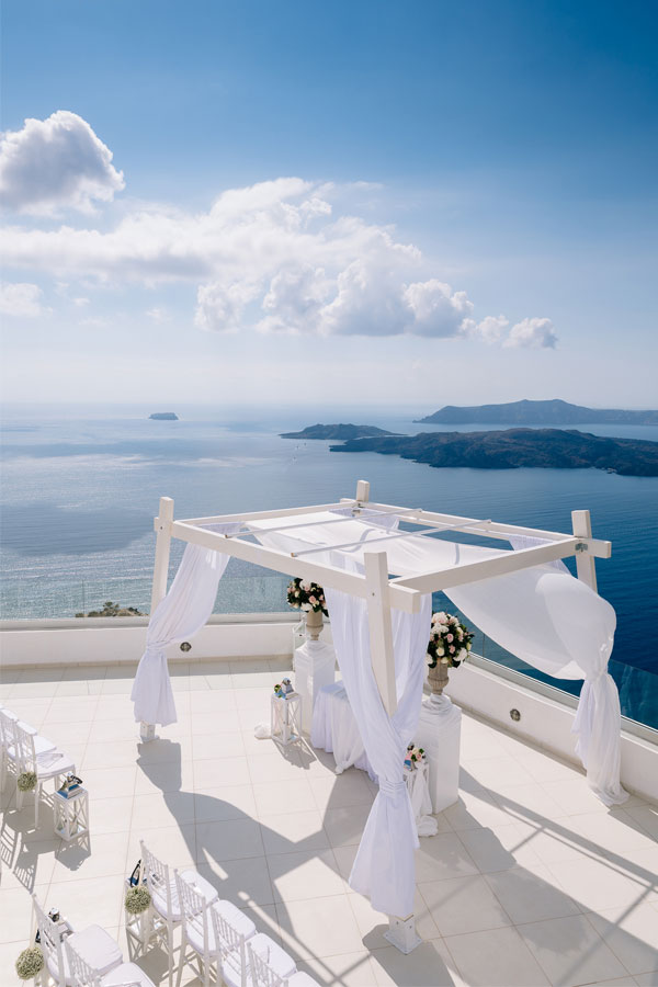 Santo Winery Wedding Venue Santorini Wedding Venues